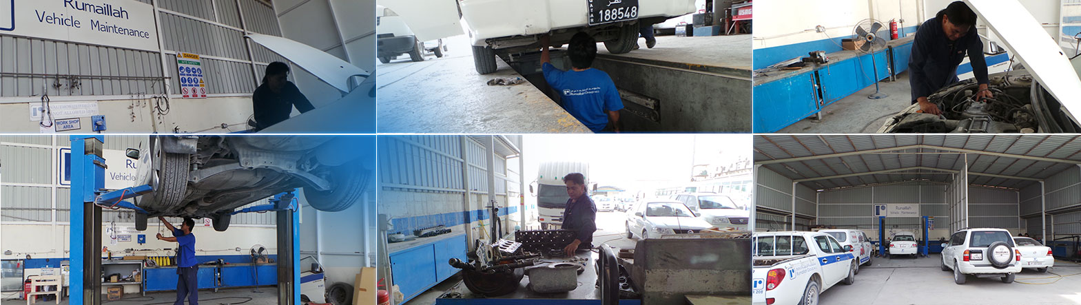 Rumaillah Group cubicles and vehicle maintenance